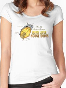 WHEN LIFE GIVES YOU LEMONS... Women's Fitted Scoop T-Shirt