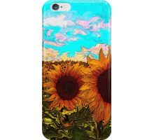 Sunny Faces, sunflower art, floral iPhone Case/Skin