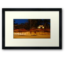 Camel Train Framed Print