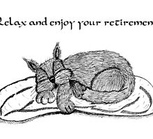 Retirement Card With Cat by Moonlake