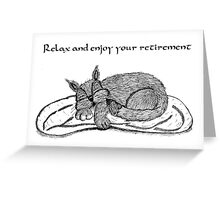 Retirement Card With Cat Greeting Card