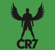 CR7 angel black One Piece - Short Sleeve