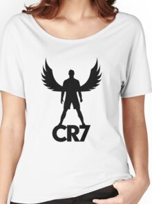 CR7 angel black Women's Relaxed Fit T-Shirt