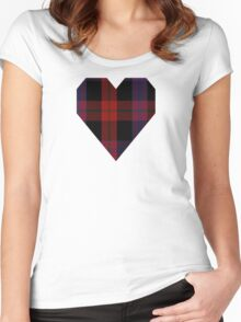 00003 Brown or Grady Clan/Family Tartan  Women's Fitted Scoop T-Shirt