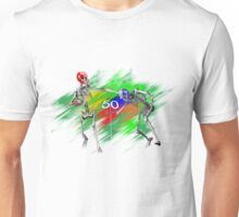 Skeletons playing football Unisex T-Shirt