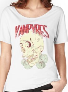 Vampyres - skull with garlic Women's Relaxed Fit T-Shirt