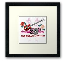 Rock and Roll 50's Music Framed Print