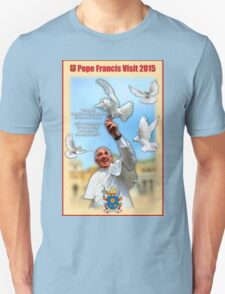 Pope Francis 2015 with doves cream background 2 T-Shirt