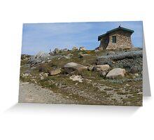 Seamans Hut - Mount Kosciuszko  Greeting Card