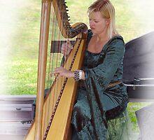 Harpist by Tony Cave