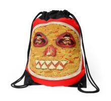 Pizza Face Drawstring Bag