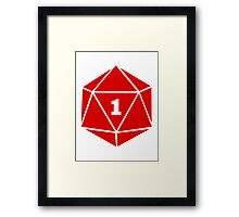 Critical Fail (d20) Framed Print