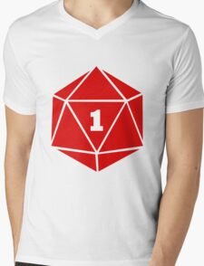 Critical Fail (d20) Mens V-Neck T-Shirt