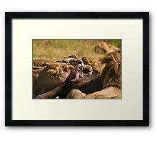 Killing on the Plains of Africa Framed Print