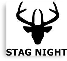 Stag Night Canvas Print