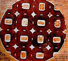 "The Orange Plate (Collagraph 2) by Belinda ""BillyLee"" NYE (Printmaker)"