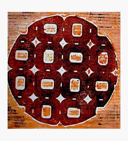 The Orange Plate (Collagraph 2) Photographic Print
