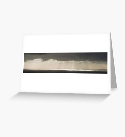 Rays of light on Port Phillip Bay Greeting Card