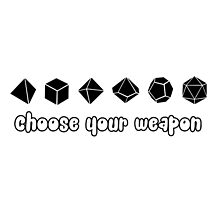 Choose your Weapon (Black) by Merwok