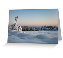 Winter Landscape in Finland Greeting Card