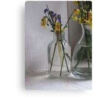 Flowers in a Glass Jar Canvas Print