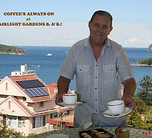 Coffee's always on at Fairlight Gardens B.&B.. by MrJoop