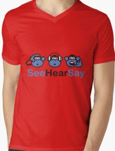 See Hear Say Mens V-Neck T-Shirt
