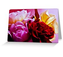vase of homegrown roses  Greeting Card