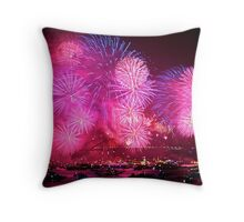 New Years Eve Fireworks in Sydney Harbour #1 Throw Pillow