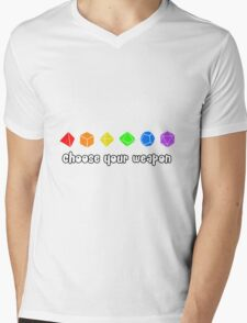 Choose your Weapon (Rainbow) Mens V-Neck T-Shirt