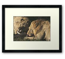 """"""" Relentless Enemies """" - Spoils of the kill go to the Male first Framed Print"""