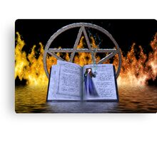 Fire and Water Spell Canvas Print