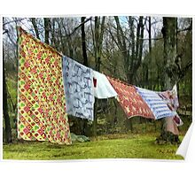 How to Dry an American Quilt Poster