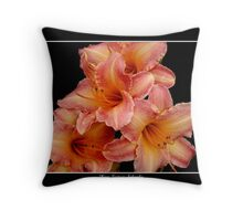 4 Lilies: Pink and Orange #2 Throw Pillow