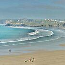 Towan beach. by Lilian Marshall