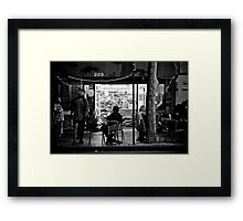 Macquarie street store at night Framed Print