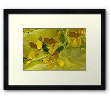 Floral with oil and water Framed Print