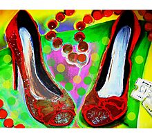 Red Shoes In Photographic Print