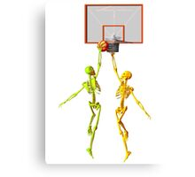 Skeleton basketball  Canvas Print