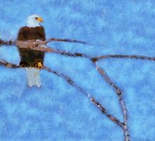 Eagle Sitting High by Linda Miller Gesualdo