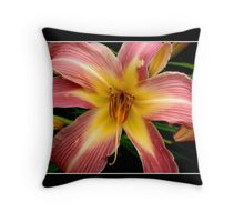 Lily: Pink and Yellow Throw Pillow