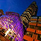 London Tower 42 at Night by DavidGutierrez