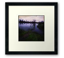 Water In The Valley Framed Print