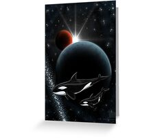 From Sirius to mars  Greeting Card