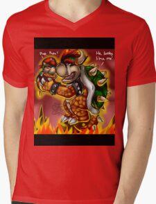 Bowser and Jr Mens V-Neck T-Shirt