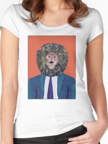 Mr. Lion's portrait Women's Fitted Scoop T-Shirt