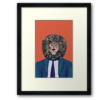 Mr. Lion's portrait Framed Print