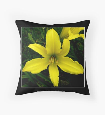 Lily: Yellow Throw Pillow