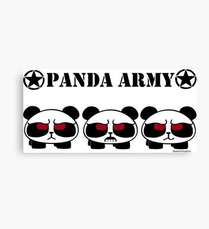 Panda Army Canvas Print