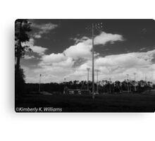 Baseball Field at noon Canvas Print